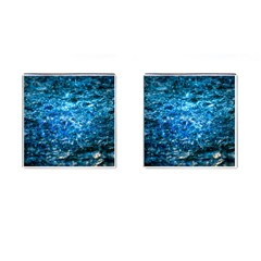 Water Color Blue Cufflinks (square)