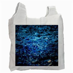 Water Color Blue Recycle Bag (one Side) by FunnyCow