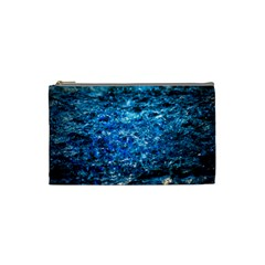 Water Color Blue Cosmetic Bag (small)  by FunnyCow