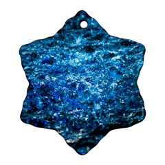 Water Color Blue Ornament (snowflake)