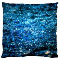 Water Color Blue Standard Flano Cushion Case (one Side) by FunnyCow