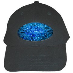Water Color Navy Blue Black Cap
