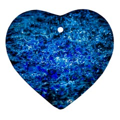 Water Color Navy Blue Ornament (heart)