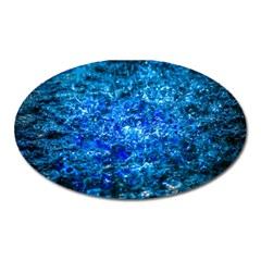 Water Color Navy Blue Oval Magnet