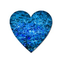 Water Color Navy Blue Heart Magnet by FunnyCow