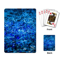 Water Color Navy Blue Playing Card
