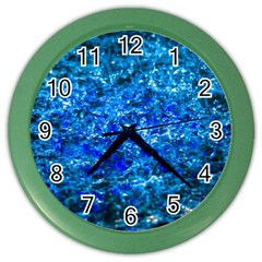 Water Color Navy Blue Color Wall Clocks