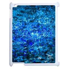 Water Color Navy Blue Apple Ipad 2 Case (white) by FunnyCow