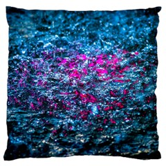 Water Color Violet Large Flano Cushion Case (one Side) by FunnyCow