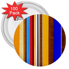 Colorful Stripes 3  Buttons (100 Pack)