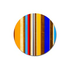 Colorful Stripes Magnet 3  (round) by FunnyCow