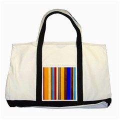 Colorful Stripes Two Tone Tote Bag