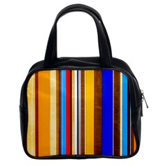 Colorful Stripes Classic Handbags (2 Sides) by FunnyCow