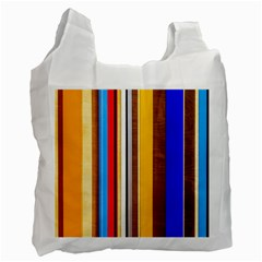 Colorful Stripes Recycle Bag (two Side)