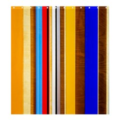 Colorful Stripes Shower Curtain 66  X 72  (large)  by FunnyCow