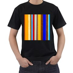Colorful Stripes Men s T Shirt (black)