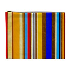 Colorful Stripes Cosmetic Bag (xl)