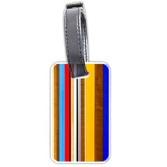 Colorful Stripes Luggage Tags (one Side)