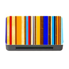 Colorful Stripes Memory Card Reader With Cf by FunnyCow