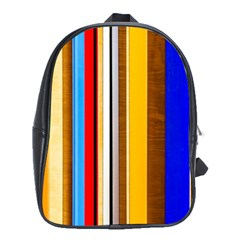 Colorful Stripes School Bag (xl) by FunnyCow
