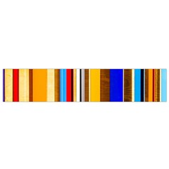 Colorful Stripes Small Flano Scarf by FunnyCow