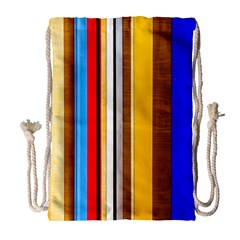Colorful Stripes Drawstring Bag (large) by FunnyCow