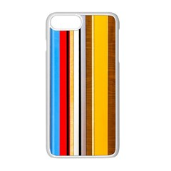 Colorful Stripes Apple Iphone 8 Plus Seamless Case (white)