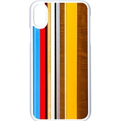 Colorful Stripes Apple Iphone X Seamless Case (white)