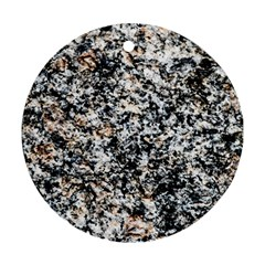 Granite Hard Rock Texture Ornament (round)