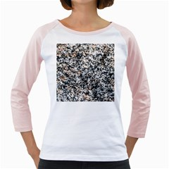 Granite Hard Rock Texture Girly Raglans