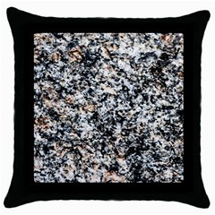Granite Hard Rock Texture Throw Pillow Case (black) by FunnyCow