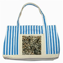 Granite Hard Rock Texture Striped Blue Tote Bag by FunnyCow