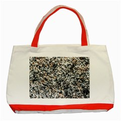 Granite Hard Rock Texture Classic Tote Bag (red) by FunnyCow