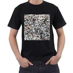 Granite Hard Rock Texture Men s T Shirt (black)