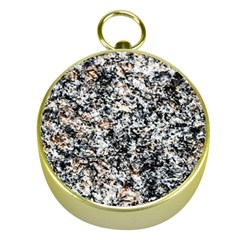 Granite Hard Rock Texture Gold Compasses by FunnyCow