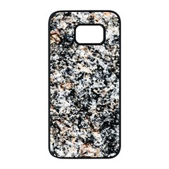 Granite Hard Rock Texture Samsung Galaxy S7 Edge Black Seamless Case by FunnyCow
