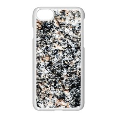 Granite Hard Rock Texture Apple Iphone 8 Seamless Case (white) by FunnyCow