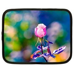 Pink Rose Flower Netbook Case (xl)