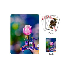 Pink Rose Flower Playing Cards (mini)  by FunnyCow
