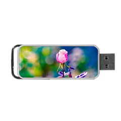 Pink Rose Flower Portable Usb Flash (two Sides) by FunnyCow