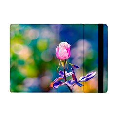 Pink Rose Flower Apple Ipad Mini Flip Case by FunnyCow