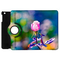 Pink Rose Flower Apple Ipad Mini Flip 360 Case by FunnyCow