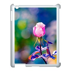 Pink Rose Flower Apple Ipad 3/4 Case (white) by FunnyCow