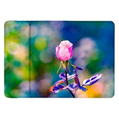 Pink Rose Flower Samsung Galaxy Tab 8 9  P7300 Flip Case by FunnyCow