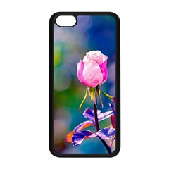 Pink Rose Flower Apple Iphone 5c Seamless Case (black) by FunnyCow