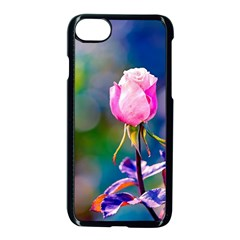 Pink Rose Flower Apple Iphone 7 Seamless Case (black)