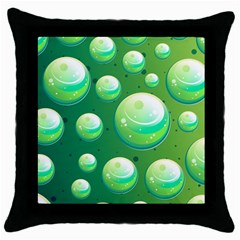 Background Colorful Abstract Circle Throw Pillow Case (black)
