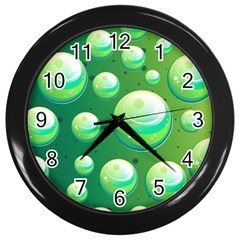 Background Colorful Abstract Circle Wall Clocks (black)