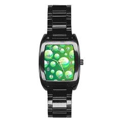 Background Colorful Abstract Circle Stainless Steel Barrel Watch