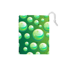 Background Colorful Abstract Circle Drawstring Pouches (small)